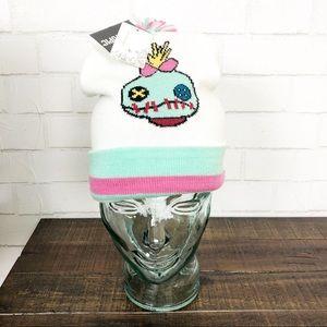Disney Lilo & Stitch Scrump Varsity Pom Beanie NEW